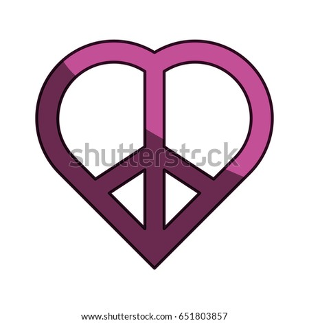Peace Love Symbol Stock Vector Royalty Free 651803857 Shutterstock