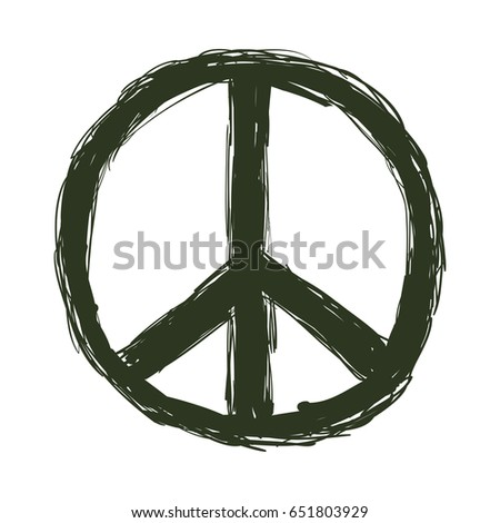 Peace Love Symbol Stock Vector Royalty Free 651803929 Shutterstock