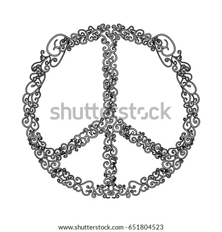 Peace Love Symbol Stock Vector Royalty Free 651804523 Shutterstock