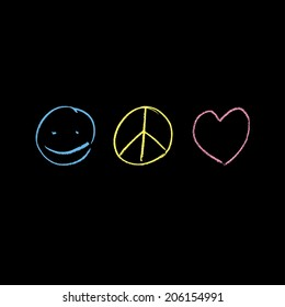 Peace & Love symbols