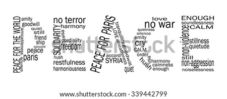peace for paris word peace in word cloud style words representing peace after