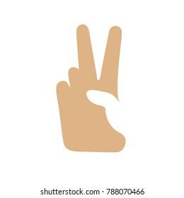 peace sign icon - gesture symbol