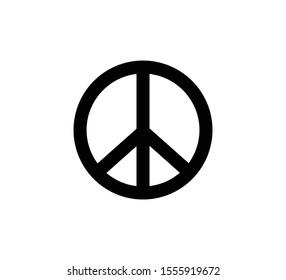 peace sign icon vector logo 260nw