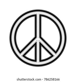 Peace sign illustration. Vector. Flat style black icon on white.