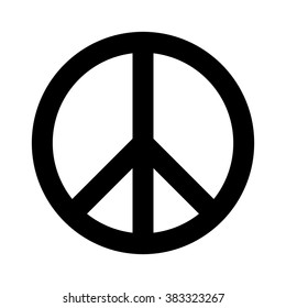 Peace sign / symbol flat vector icon for apps and websites