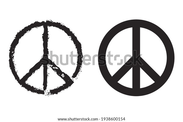 peace sign , Peace symbols , Peace  Illustrations isolated on white background