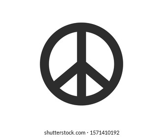Peace sign. Vector peace icon.