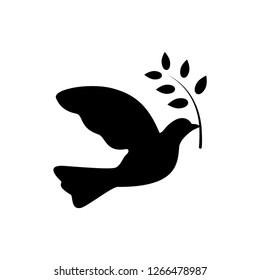 peace symbol, dove icon trendy vector template