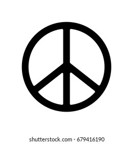 Peace Symbol Icon. Vector.