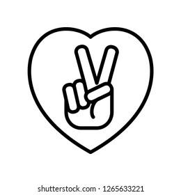 peace symbol icon vector trendy