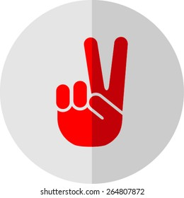 Peace symbol isolated on flat style