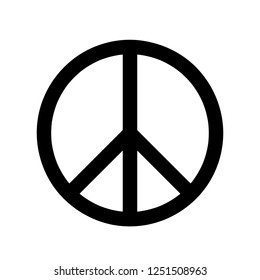 Peace symbol on the White Blackground Vector illustration