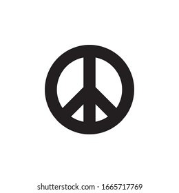 Peace symbol, pacifist vector icon