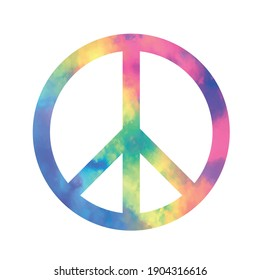 Peace symbol, sign, Vector illustration