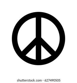 Peace symbol in vector