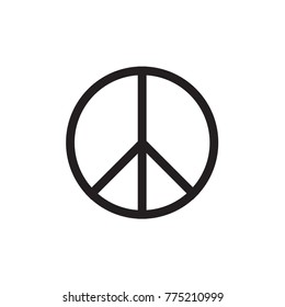 Peace Symbol Vector Icon EPS10