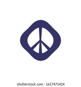 Peace Symbol Vector Icon. peace sign icon. blue color