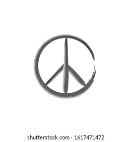 Peace Symbol Vector Icon. peace sign icon.paint brush style