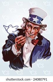 Peaceful Uncle Sam