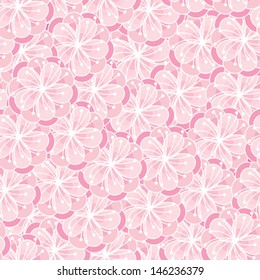 Peach blossom seamless ornament