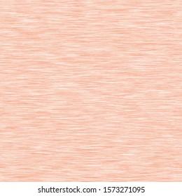 Peach heather marl melange seamless pattern. Jersey knit fabric texture.