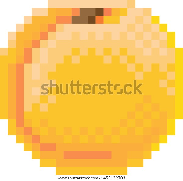 Peach Pixel Art 8 Bit Video Stock Vector Royalty Free