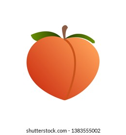 Peach Social Media Emoji. Modern Simple Vector For Web Site Or Mobile App