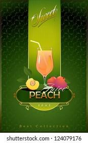 Peach. Vector