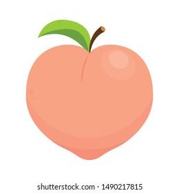 Peach vector. Peach on white background. Peach logo design.