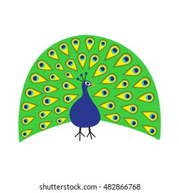 cartoon peacock images stock photos vectors shutterstock https www shutterstock com image vector peacock feather out open tail beautiful 482866768