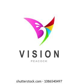 Peacock Letter V Logo, Initial Letter V Logo   Peacock Logo