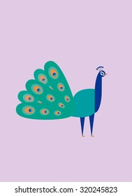 Peacock Pavao Vector