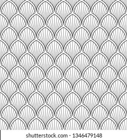 Peafowl feather geometric ornament in black, white colours. Folk vector pattern for adult colouring book, interior, wallpaper, fabric, apparel textile, phone case. Vintage monochrome bold line motif