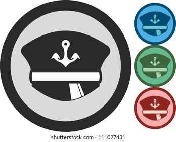 Peaked cap, vector, icon