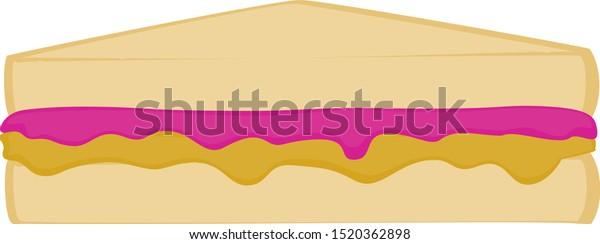 peanut butter jelly sandwich cut half stock vector royalty free 1520362898 https www shutterstock com image vector peanut butter jelly sandwich cut half 1520362898