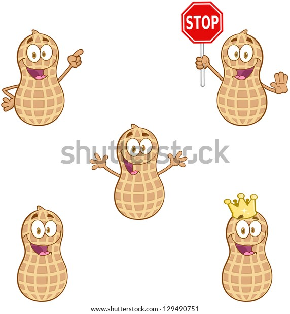 Peanuts Cartoon Mascot Characters-Vector Collection 1