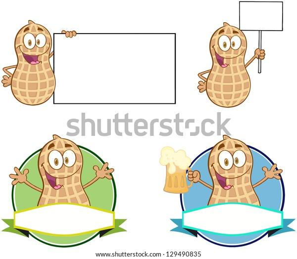 Peanuts Cartoon Mascot Characters-Vector Collection 3