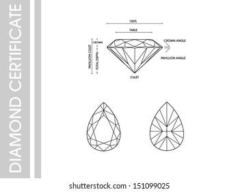 Pear diamond  certificate