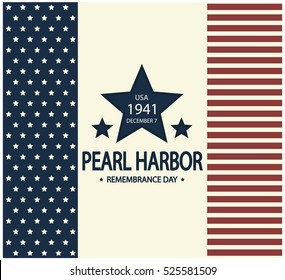 Pearl Harbor card or background. vector illustration.