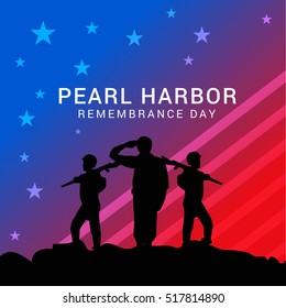 Pearl harbor remembrance day background.