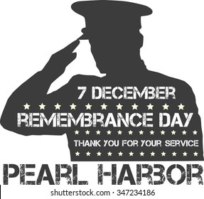 Pearl Harbor. Remembrance day. Vector illustration Patriotic background