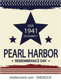 Pearl Harbor Remembrance day. vector illustration.