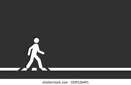 Pedestrian crossing line, crosswalk, vector