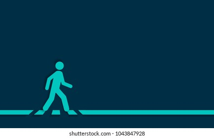 Pedestrian crossing line crosswalk, vector