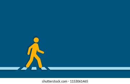 Pedestrian crossing line – crosswalk, vector