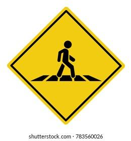 Pedestrian crossing sign- vector