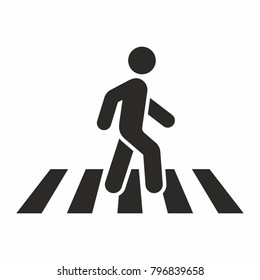 Pedestrian, crosswalk icon