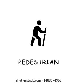 Pedestrian flat vector icon. Hand drawn style design illustrations.