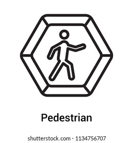 Pedestrian icon vector isolated on white background for your web and mobile app design, Pedestrian logo concept