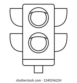 Pedestrian semaphore icon. Outline pedestrian semaphore vector icon for web design isolated on white background